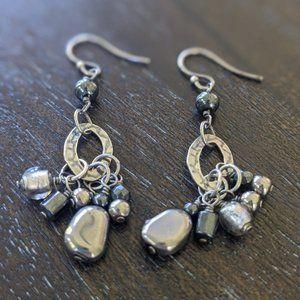 Silpada Sterling Silver + Hematite Earrings